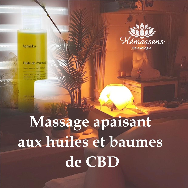 Massage relaxant et apaisant aux huiles de CBD