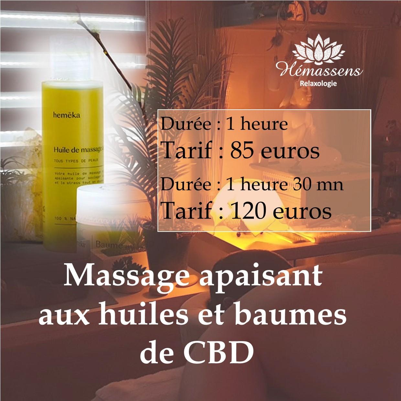 Massage relaxant et apaisant aux huiles et baumes de CBD